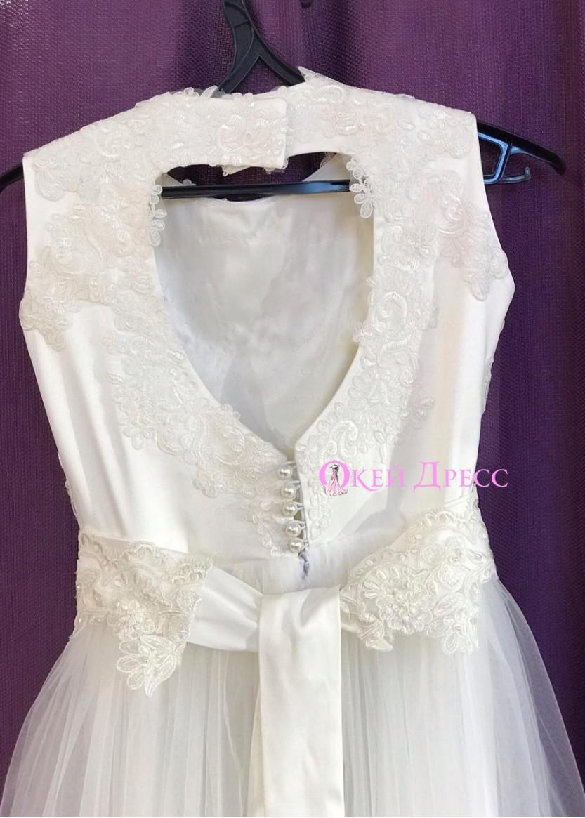 Дарси  Белое❥ OkDress ❥ Прокат дестких платьев в Краснодаре