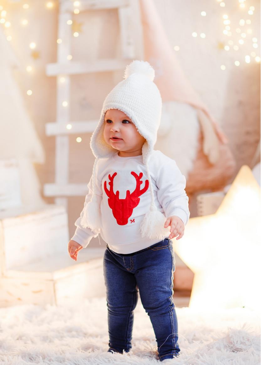 Детский свитер белый 0