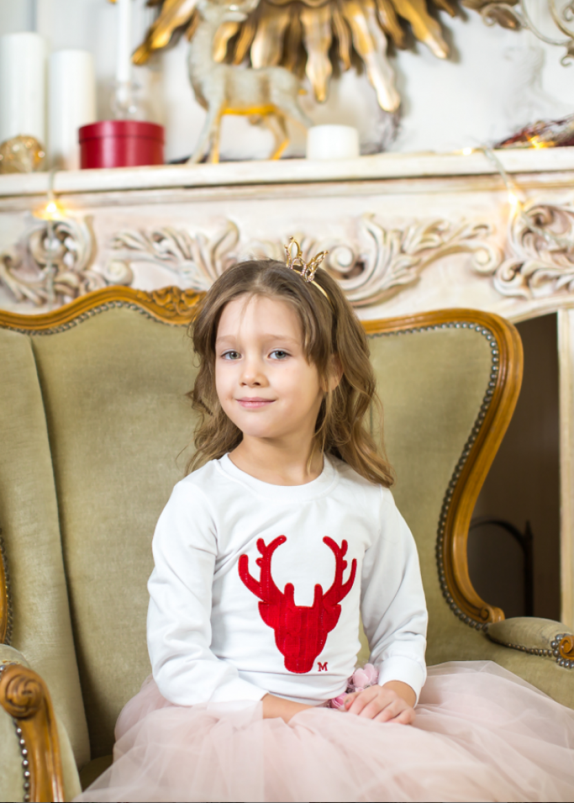 Детский свитер белый 4