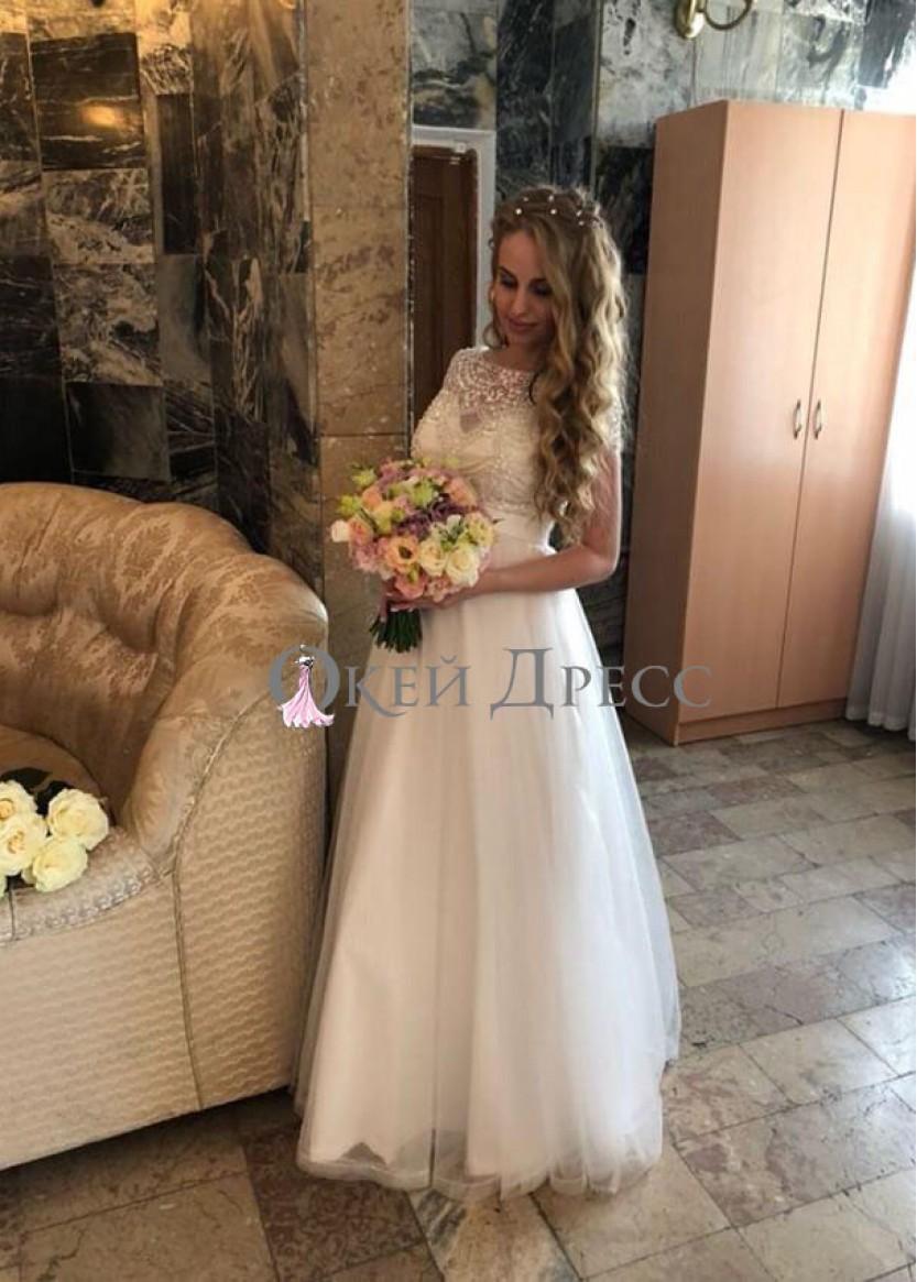 Глэдис Фатин Белое| Прокат платьев в Краснодаре | OkDress