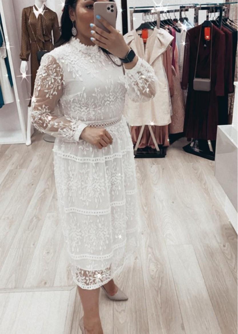 Амелия Белое| Прокат платьев в Краснодаре | OkDress
