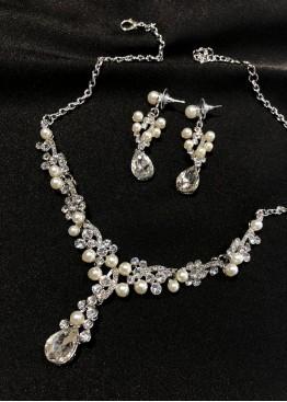 Ожерелье серебро с жемчугом