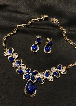Ожерелье синее