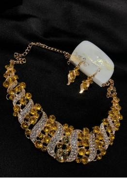 Ожерелье золото с желтым