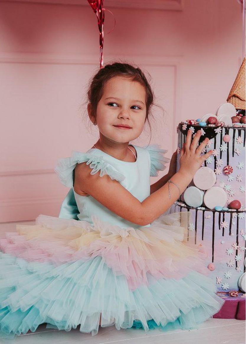 Детское платье Радуга
