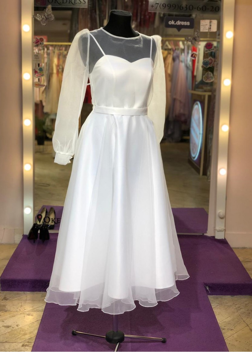 Либерти Белое  ❥ OkDress ❥ Прокат платьев в Краснодаре