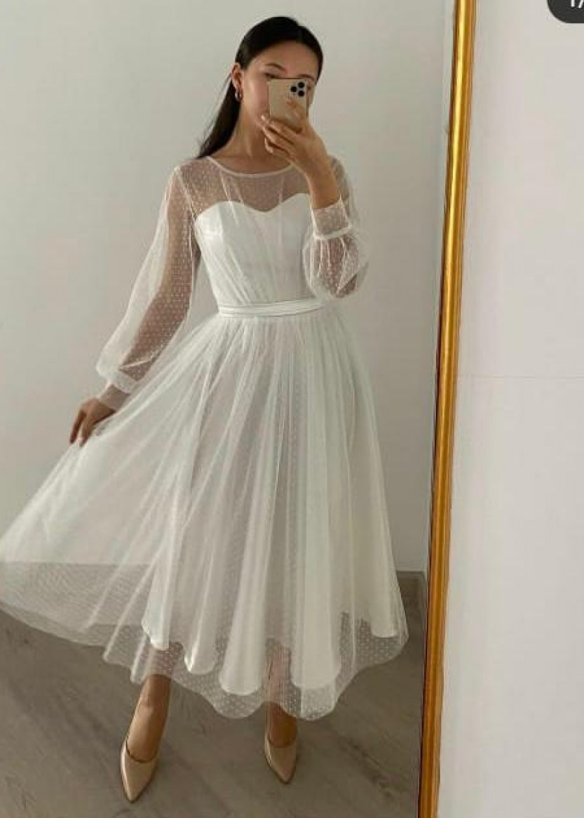 Молли Белое 1 ❥ OkDress ❥ Прокат платьев в Краснодаре