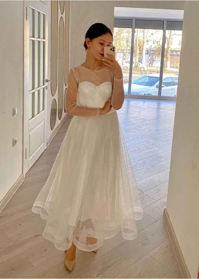 Молли Белое 2 ❥ OkDress ❥ Прокат платьев в Краснодаре