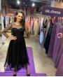Молли Черное Миди ❥ OkDress ❥ Прокат платьев в Краснодаре