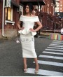Кейси Белое Волан❥ OkDress ❥ Прокат платьев в Краснодаре